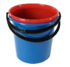 Bøtte plast 10 liter Blå m/plasthåndtak
