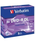 DVD+R DL VERBATIM 8.5Gb 8X Jewelcase (5)