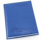 Hyttebok GRIEG 192 sider Ulinjert Sjømotiv Blå