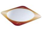 Dekorbunn PE-belagt firkant 33cm Gull (250) 10498