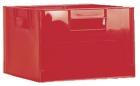 Lekekasse rød 36x36x24 cm