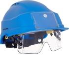 Hjelm Iris med intigrert visir og ID holder, Blå