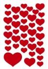 Etikett HERMA dekor hjerter røde