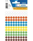 Etikett HERMA manuell ø8mm ass frg (540)