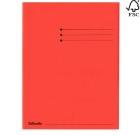 Klaffmappe kartong med 3 klaffer rød 44228