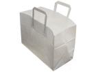 Bærepose papir m/håndtak 35x17x24cm Hvit, 17 liter (250)