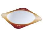 Dekorbunn PE-belagt firkantet 280mm m/gull (250) 10497