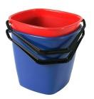 Bøtte firkantet Blå 9,5 liter