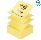 Post-it 76x76mm notatblokk Z-Notes R330 gul
