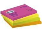 Notatblokk selvklebende  STAPLES 127x75mm assortert neon (12)