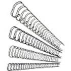 Metallspiral Leitz sølv 8mm 3:1 (100)