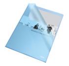 Omslag plast A4 105my Blå 54837 (100)