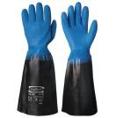 Fiskehansken PVC 45cm blå/sort