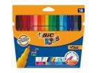 Fiberpenn BIC Visa assorterte farger (18)