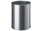 Papirkurv 15 liter DURABLE metall Sølv