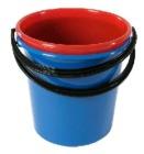 Bøtte plast 10 liter Rød m/plasthåndtak