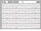 Platekalender GRIEG A4 10 år 2020 - 2029