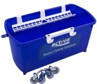 Bøtte plast 18 liter ACTIVA Rektangulær Blå m/plasthåndtak