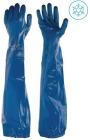 Phulax G-660, blå nitrilhanske, 60cm, påsveiset EVA-mansjett