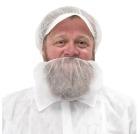 Skjeggbind, Hvit m/komfortabel strikk rundt ansiktet