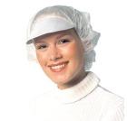 Lue m/papirskjerm, Peaked cap. Hvit (1000)