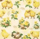 Serviett 3-lag 33cm Små kyllinger