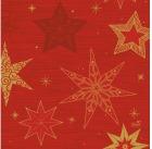 Serviett DUNI 3-lag 33cm Star rød (50)