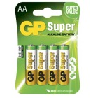 Batteri GP Alkalisk AA/LR6 (4)