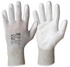 Monteringshanske ESD PU nylon-karbon/PU grå/hvit