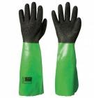 PVC hanske sort m/grønn mansjett 45cm