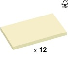 Notatblokk m/limkant STAPLES 76x127mm Resirkulert Gul (12)
