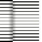 Bordløper DUNICEL 0,4x24m Black&White 171253