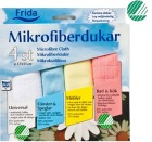 Frida mikrofiberkluter sett m/4 farger
