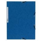 Strikkmappe A4 3 klaffer blå