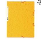Strikkmappe A4 3 klaffer gul