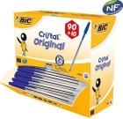 Kulepenn BIC Cristal Medium Blå dispensereske (100)
