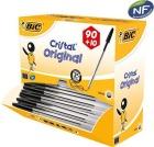Kulepenn BIC Cristal Medium Sort dispensereske (100)