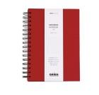 Spiralbok GRIEG A5 linjert 160 sider Rød
