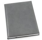 Hytte-skrivebok GRIEG ulinjert Kunstskinn Grå
