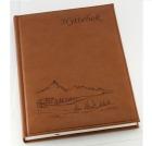 Hyttebok GRIEG 192 sider Ulinjert Fjell Brun