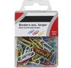 Binders 25mm assorterte farger (100)