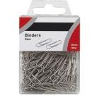 Binders 25mm i plasteske á 100stk