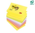 POST-IT® Z-notes 76x127mm notatblokk R350 Neon assortert farger (6)