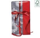 Julepapir 38cm Wreaths, dobbeltsidig, 21321-38