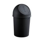 Papirkurv 13 liter HELIT med push lokk Sort