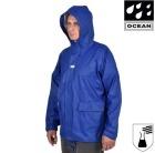 Regnjakke m/hette Comfort Cleaning Premium OCEAN® 240g PU Blå