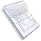 Plastlomme A4 med klaff ELBA 180my (10)