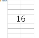 Etikett A4 105x37mm HERMA premium (1600)