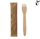 Gaffel Engangs PURE Tre 15,5cm enkeltpakket (50)