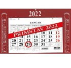 Kalender GRIEG magnet Primstav 2022 Rød